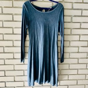 NWT Andree By Unit Blue Short Dress Cut out Back S
